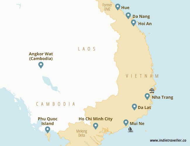 south Vietnam major attractions