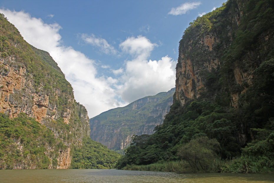 The Cañón del Sumidero near San Cristobal