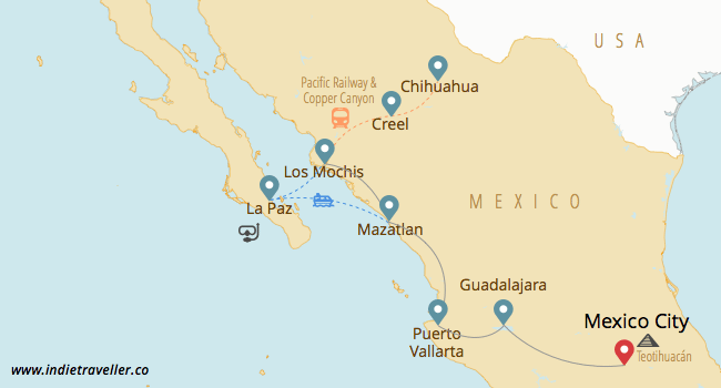 northern Mexico backpacking route