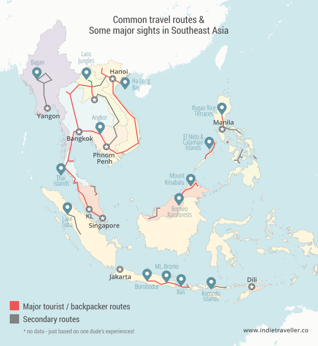 Southeast Asia Itineraries Amp Backpacking Routes