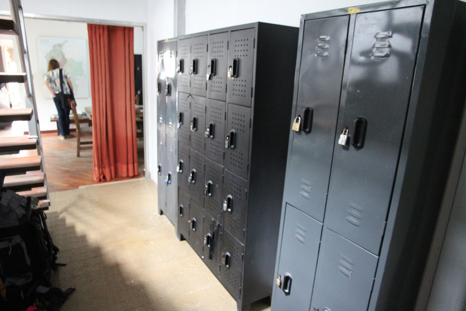 Security lockers at a hostel