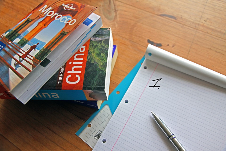 Travel guides and backpacking checklist