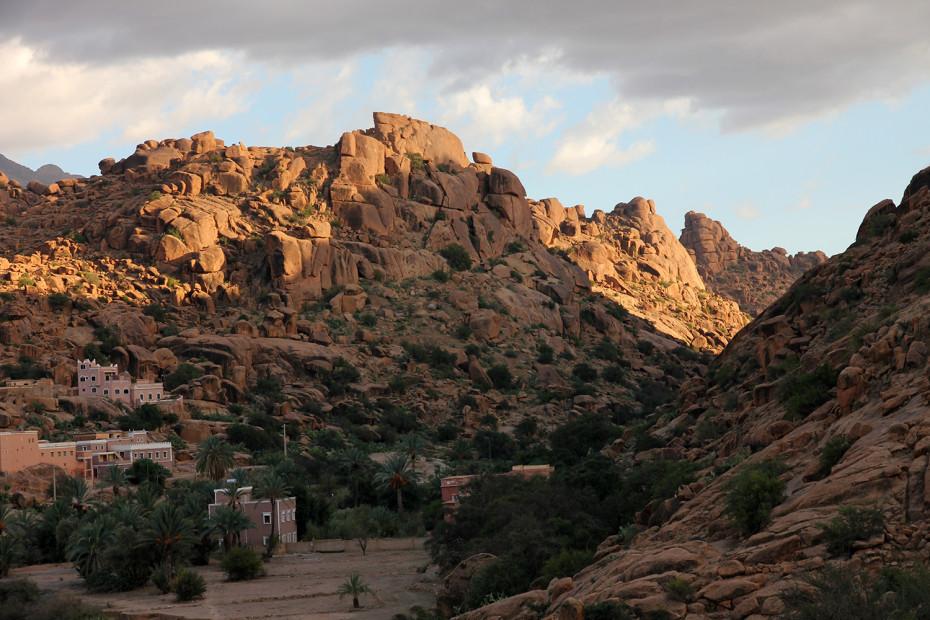 Rock formations near Tafraoute in the Anti Atlas region