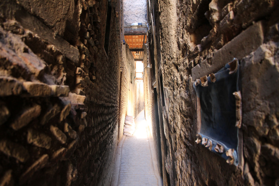 Narrow passages in the Fes medina