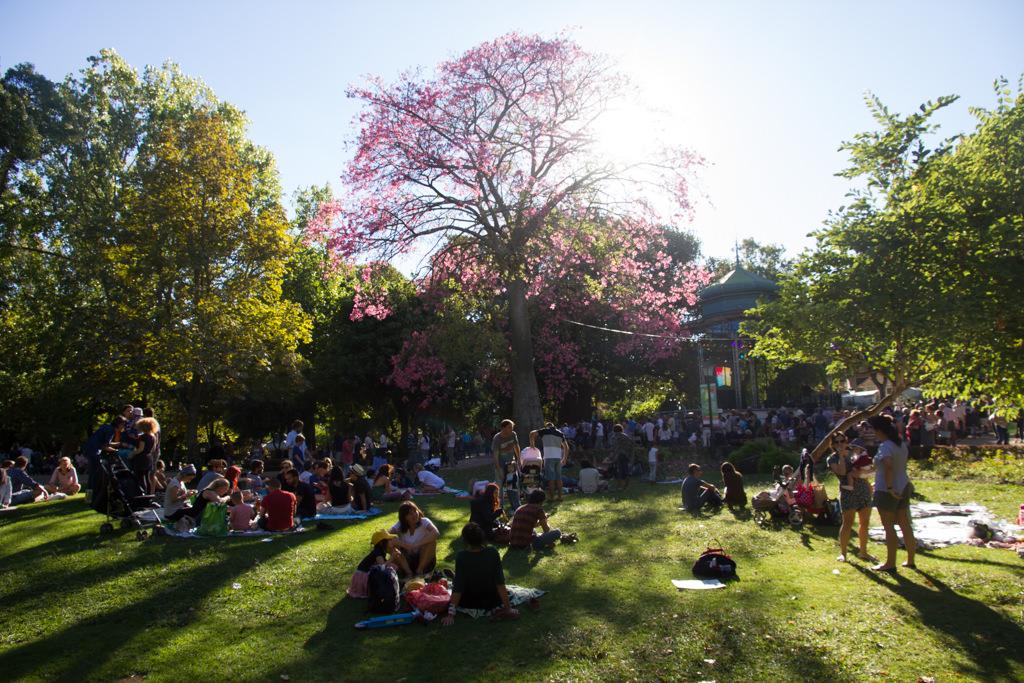 People picnicking in Jardim da Estrela