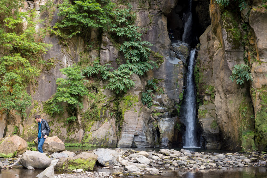 Salto do Cabrito waterfall on Sao Miguel island
