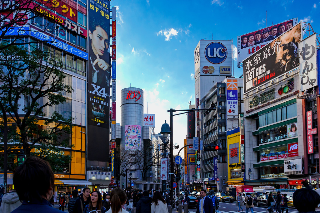 Shibuya crossing in Tokyo, one of the best places to travel solo in Japan