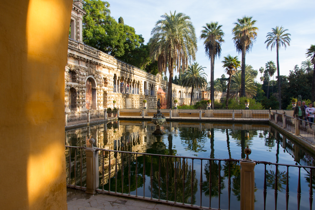 The royal palace of Alcázar in Seville