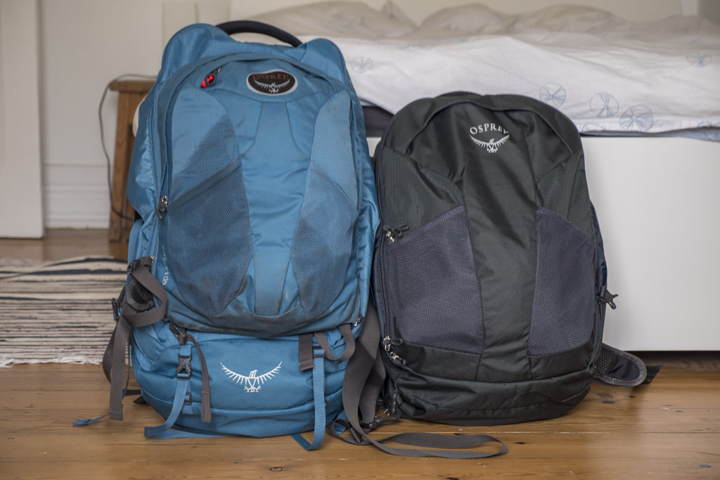 Osprey Farpoint 40 vs 55 side by side comparison