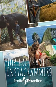 Check out this Top 100 of inspiring travel Instagrammers, ranked based on user engagement and activity. #TravelGram #TopInstagrammers #Influencers #Travel #SoloTravel #IndieTravel #IndieTraveller