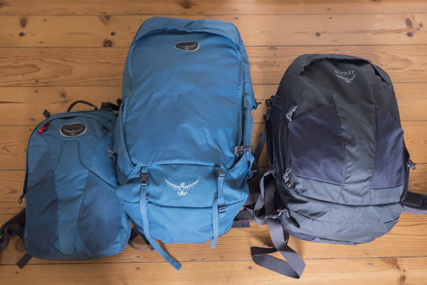 34b31c83e0 Left  the Farpoint 55 main backpack plus daypack (zipped off). Right  the  Farpoint 40.
