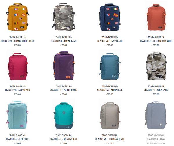 870af868befb Just a few of the colors available. The Cabin Zero Backpacks ...