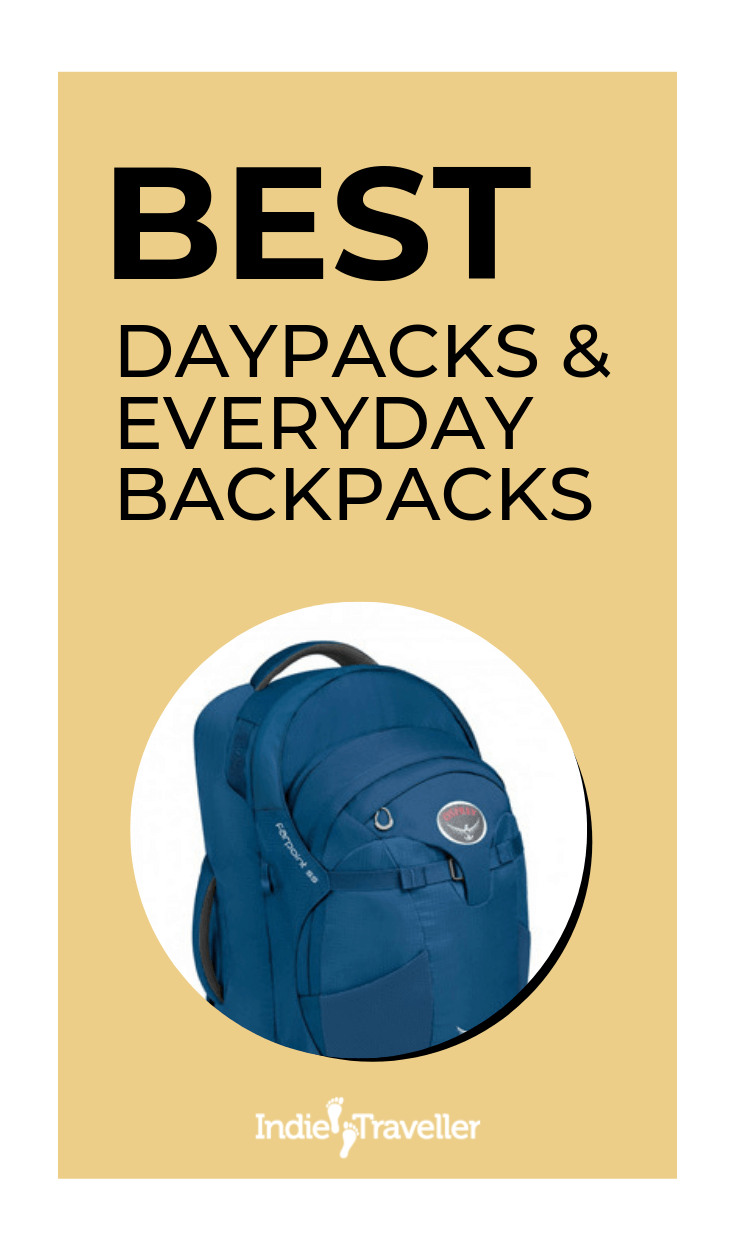 Best Travel Daypacks: Need a smaller backpack for short trips or day-to-day use? After testing a dozen daypacks in real-life, I chose these picks for best everyday backpacks. #BestTravelBackpacks #TravelBackpacks #TravelGear #Travel #TravelTips #SoloTravel #IndieTravel #IndieTraveller