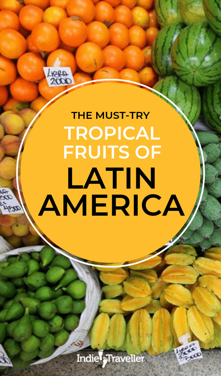 Tropical Fruits to Try When Traveling: From the fruit markets in Colombia I show you the best South American tropical fruits, and some fun facts about them. #LatinAmericaTravel #LearnSpanish #Travel #TravelTips #SoloTravel #IndieTravel #IndieTraveller