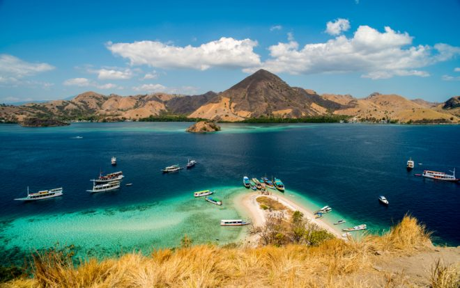 The Komodo islands, one of the top destinations in Indonesia